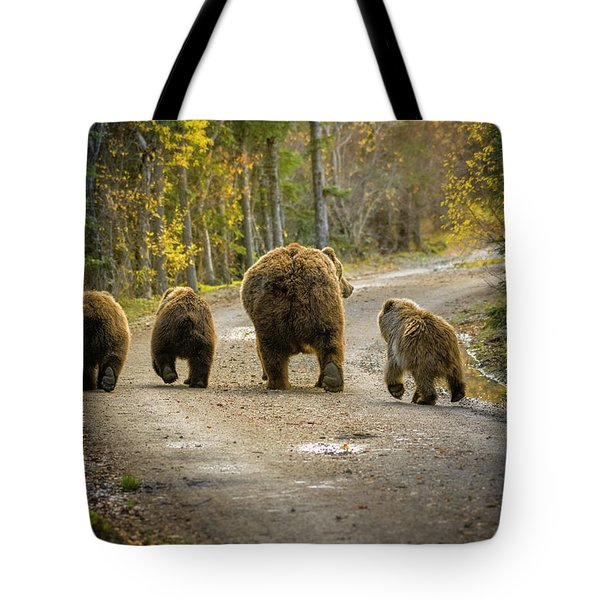 Three Little Bears And Mama Tote Bag