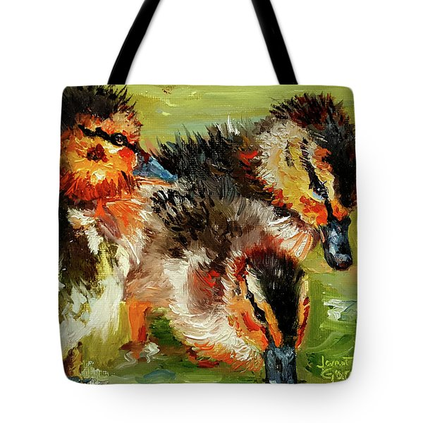 Three Little Ducks Tote Bag