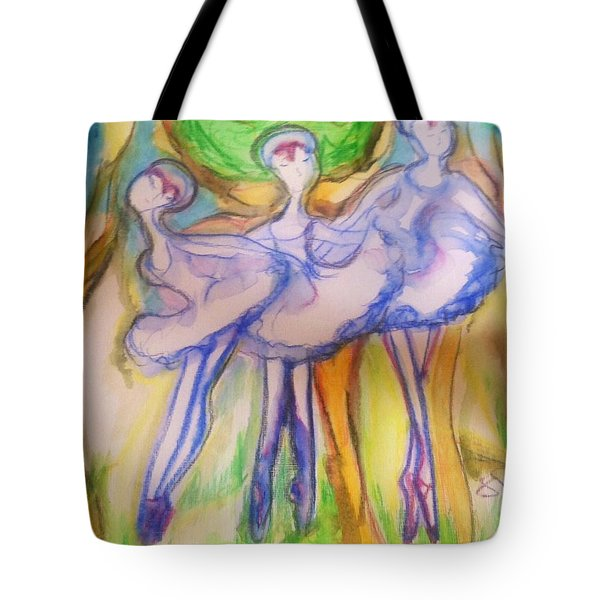 Three Magical Birds Tote Bag