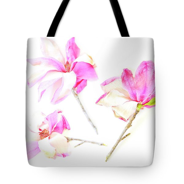 Three Magnolia Flowers Tote Bag