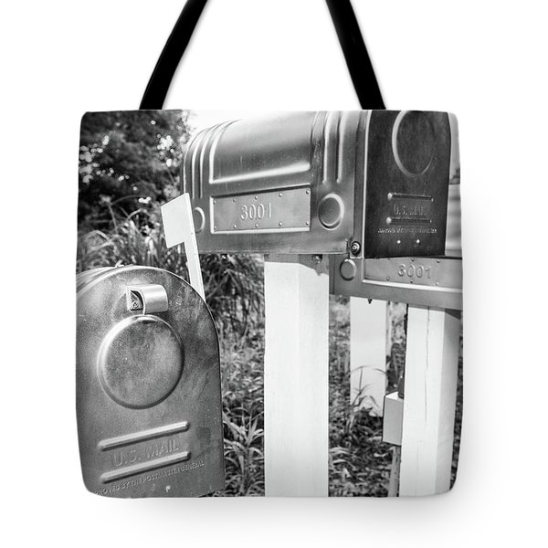 Three Mailboxes Tote Bag