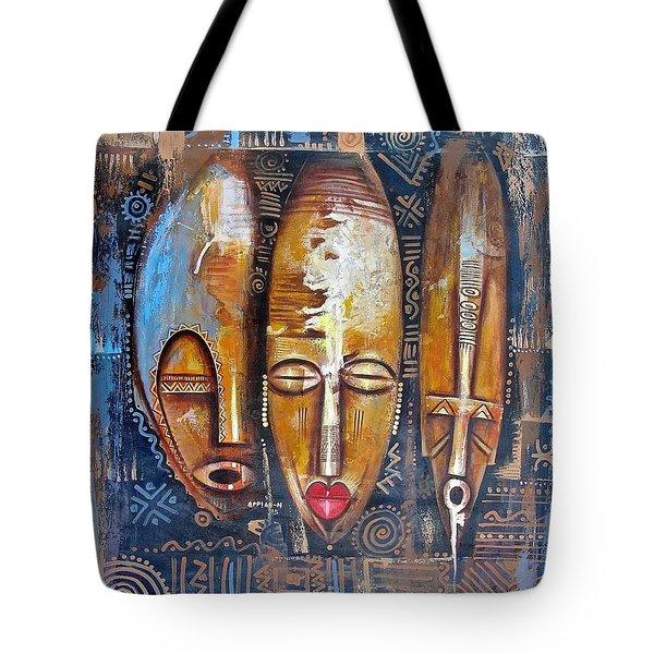Three Masks Tote Bag