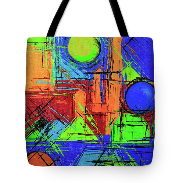 Three Moons Tote Bag by Jeanette French