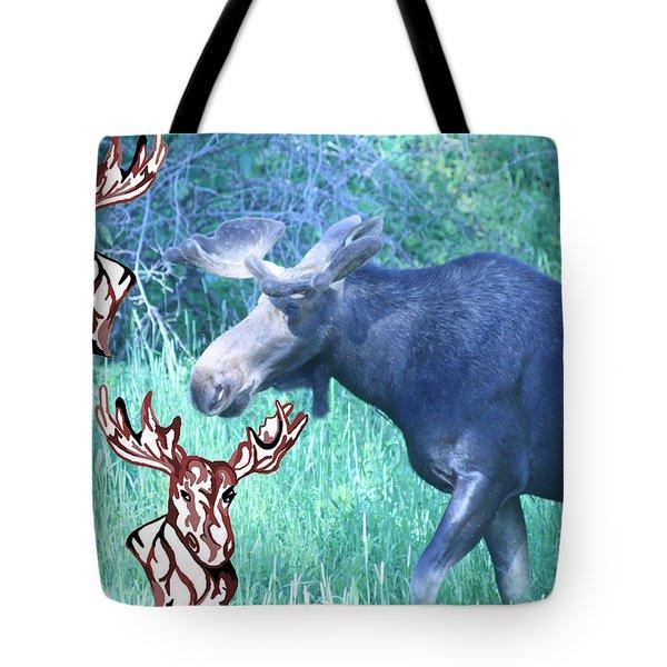 Three Moose Tote Bag