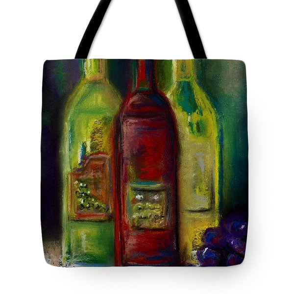 Three More Bottles Of Wine Tote Bag by Frances Marino