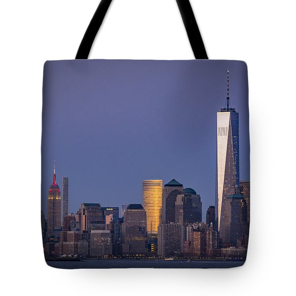 Three New York Symbols Tote Bag