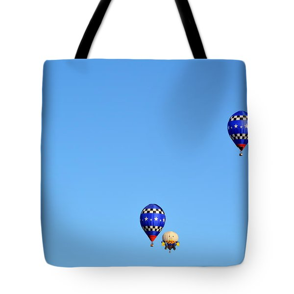 Tote Bag featuring the photograph Three Of A Kind And Humpty Too by AJ Schibig