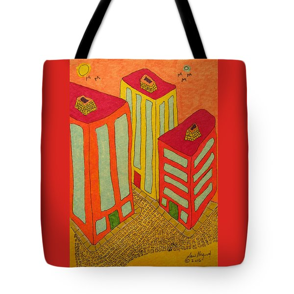 Three Office Towers Tote Bag