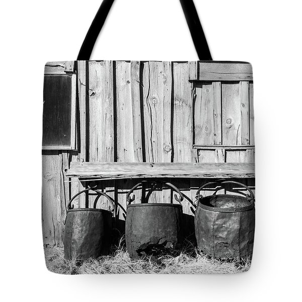 Three Old Buckets Tote Bag by Marius Sipa