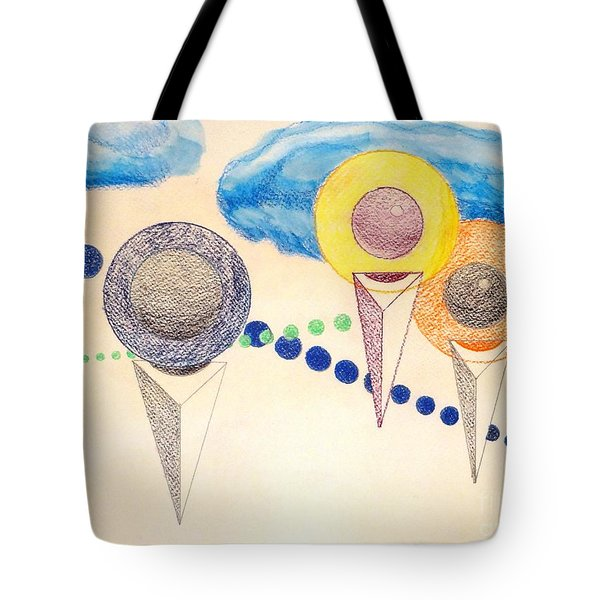 Tote Bag featuring the painting The Recession Of Depression 2 by Rod Ismay