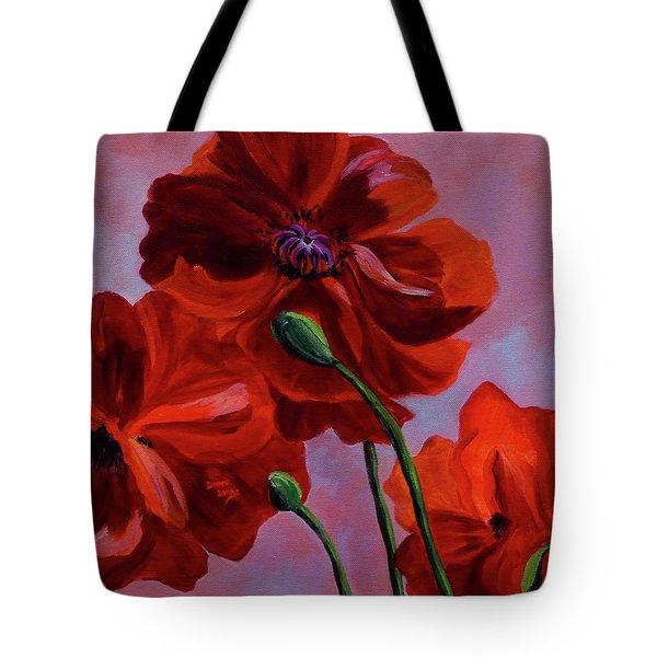 Three Oriental Poppies Tote Bag