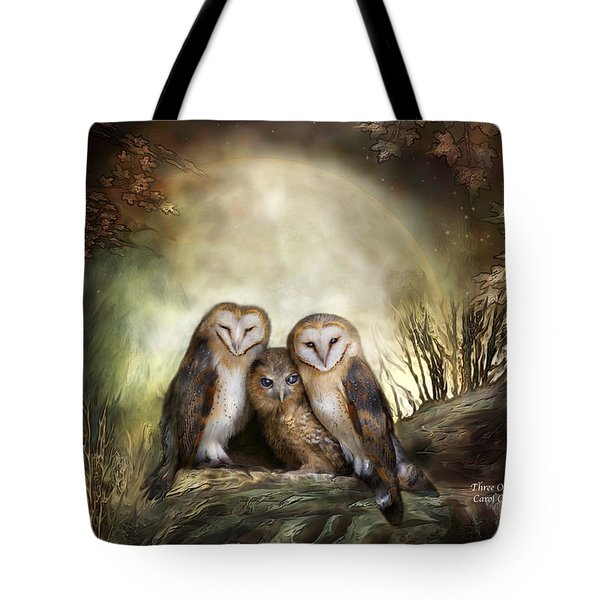 Three Owl Moon Tote Bag