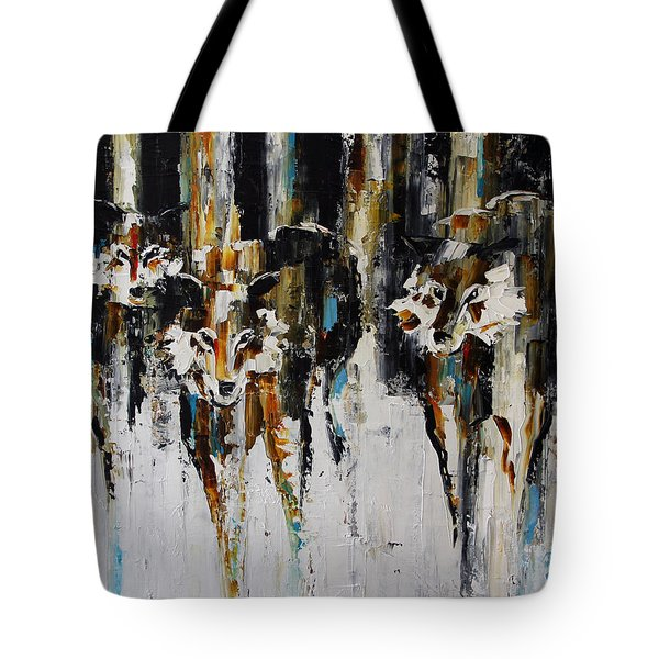 Three Pack In The Snow Tote Bag