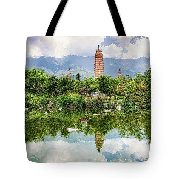 Three Pagodas Tote Bag