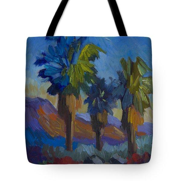 Three Palms At Palm Desert Tote Bag
