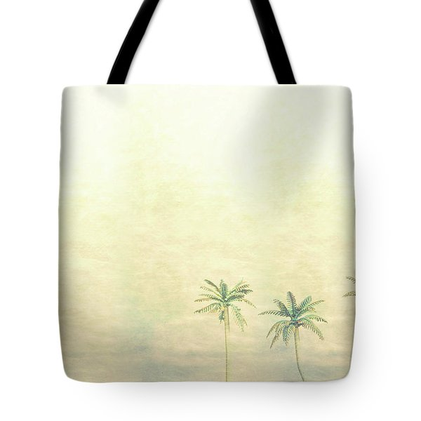 Three Palms In Color Tote Bag