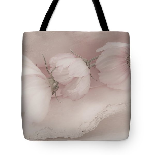 Three Pink Cosmo Flowers Tote Bag