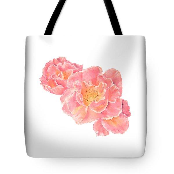Three Pink Roses Tote Bag