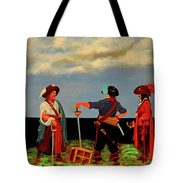 Three Pirates Tote Bag by Robert Marquiss