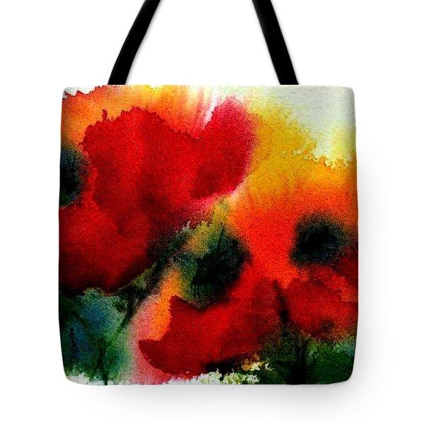 Three Poppies Tote Bag