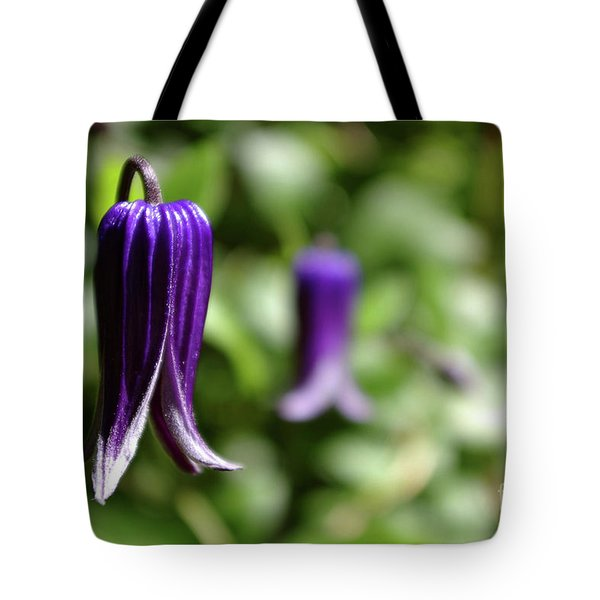 Three Purple Flowers- Leech Botanical Garden Tote Bag