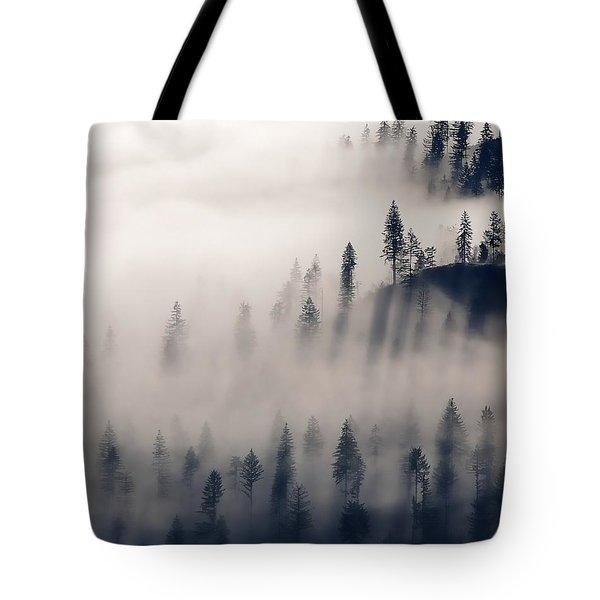 Three Ridges Fog Tote Bag