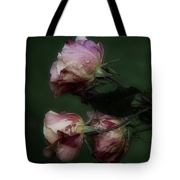 Three Romantic Roses Tote Bag