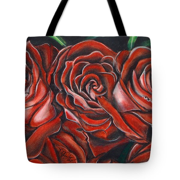 Three Rose Tote Bag