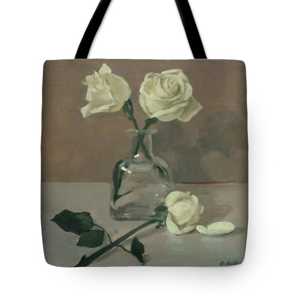 Three Roses In A Tequila Bottle Tote Bag