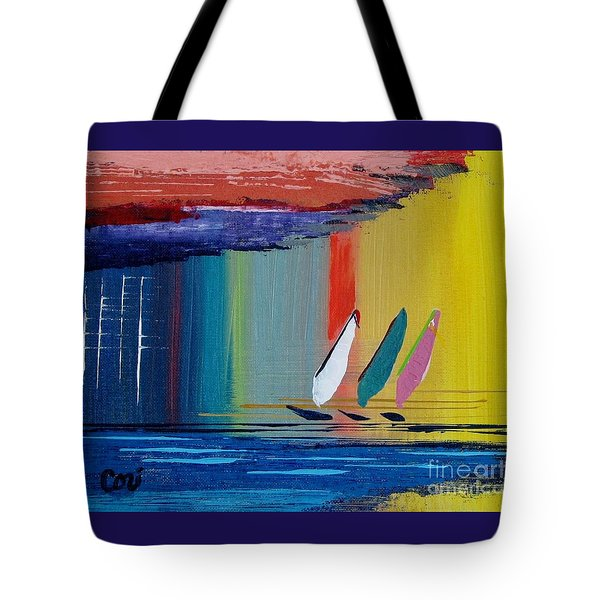 Three Sails Tote Bag