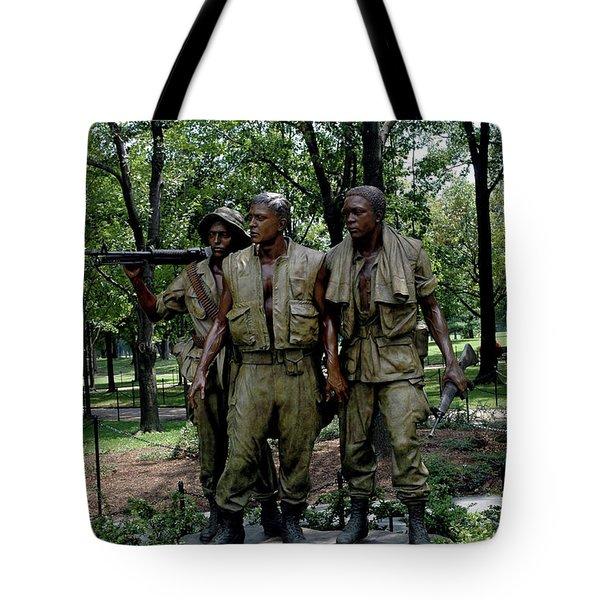 Three Servicemen Tote Bag