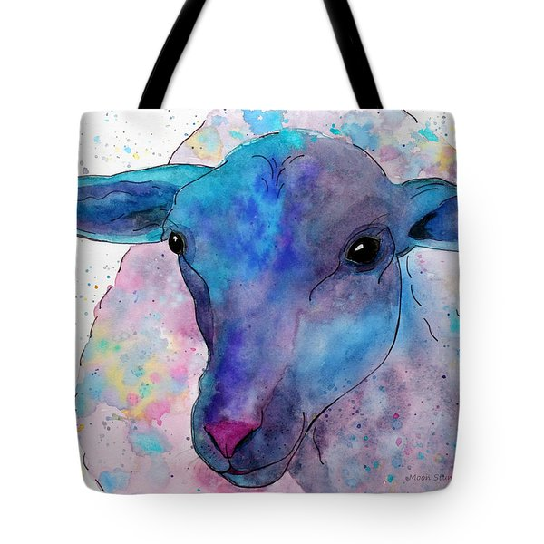 Three Sheep,  3 Of 3 Tote Bag by Moon Stumpp
