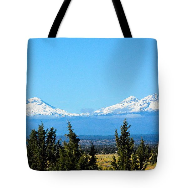 Three Sisters In The Fall Tote Bag