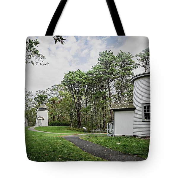Three Sisters Lighthouses Tote Bag