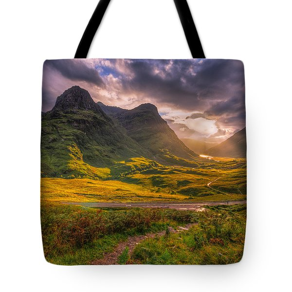Three Sisters Of Glencoe Tote Bag