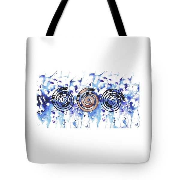 Three Spirals Tote Bag