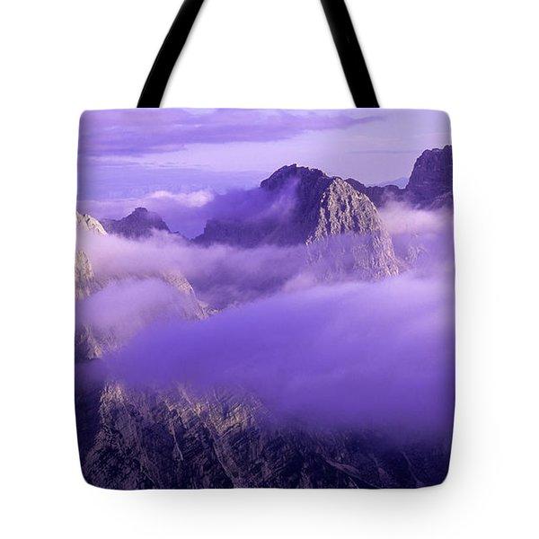 Three Summits. Julian Alps Tote Bag by Konstantin Dikovsky