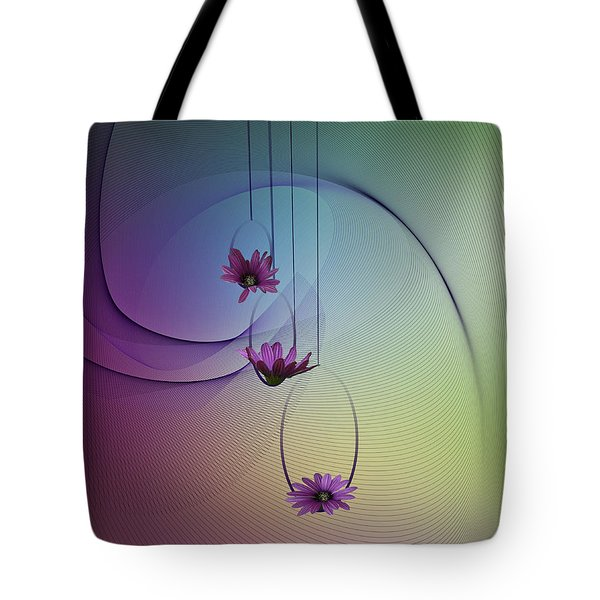 Tote Bag featuring the photograph Three Swings by Judy Johnson