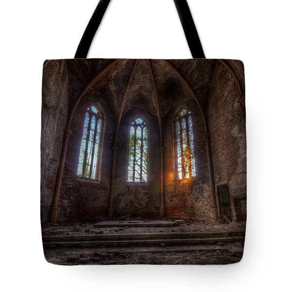 Three Tall Arches Tote Bag