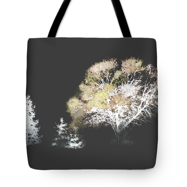 Three Trees In The Dark Tote Bag