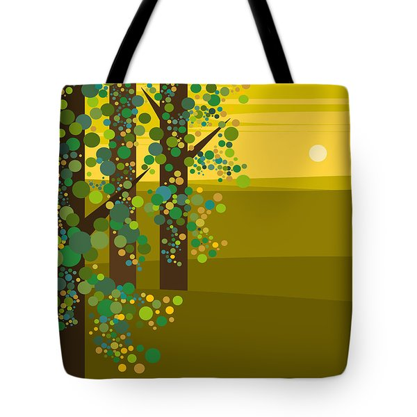 Three Trees In The Spring Tote Bag