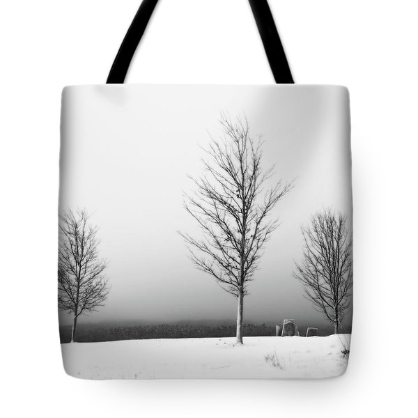 Three Trees In Winter Tote Bag