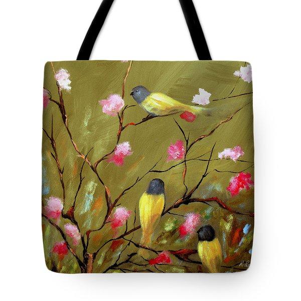Three Tweets Tote Bag by Ruth Palmer