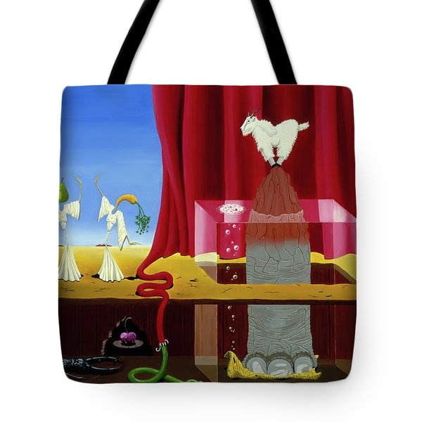 Three Twisted Dancers Tote Bag