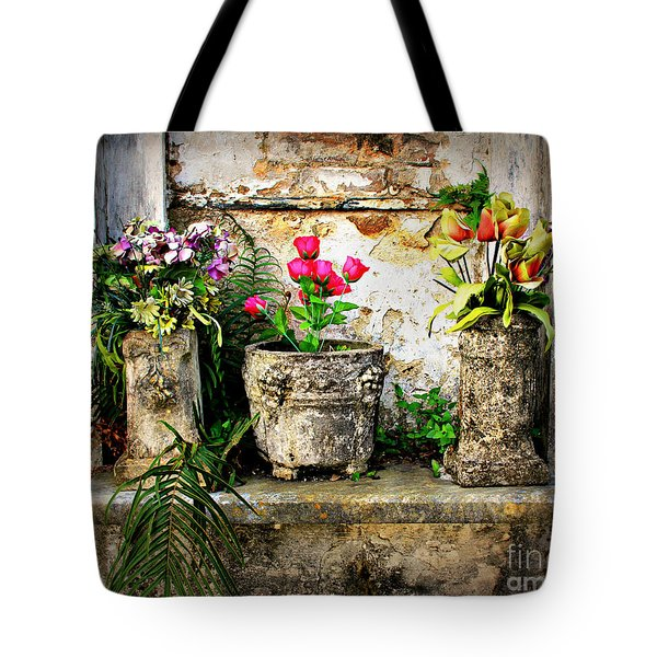 Three Vases Tote Bag by Perry Webster