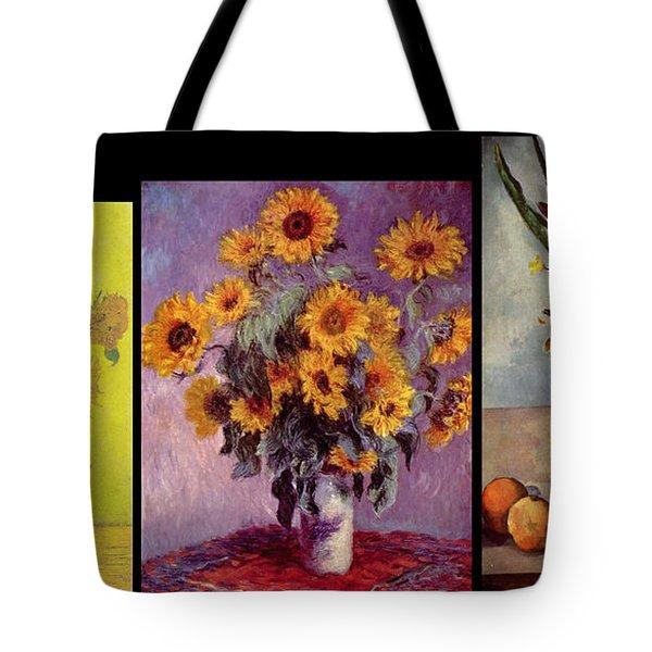 Three Vases Van Gogh - Cezanne Tote Bag