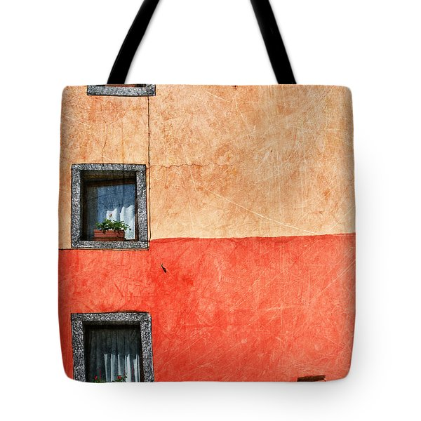 Three Vertical Windows Tote Bag