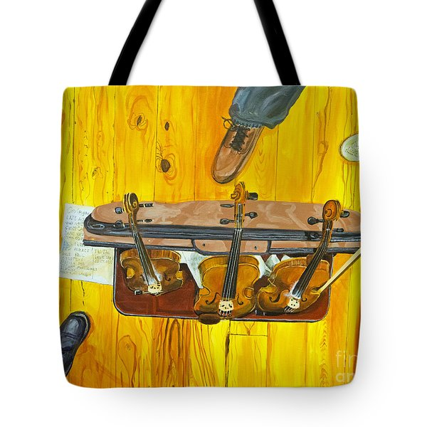 Three Violins Tote Bag