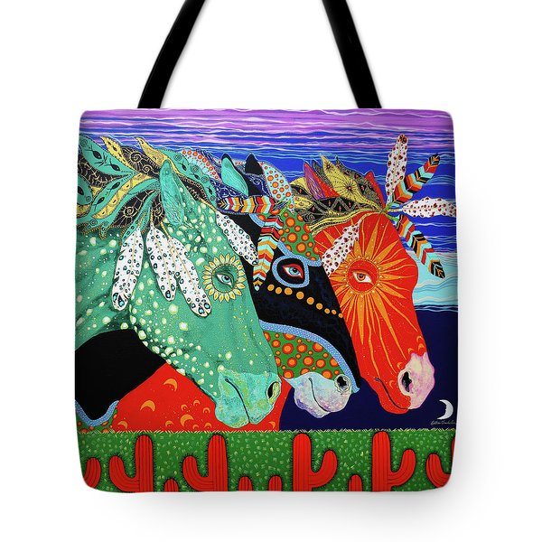 Three Visions Tote Bag by Debbie Chamberlin