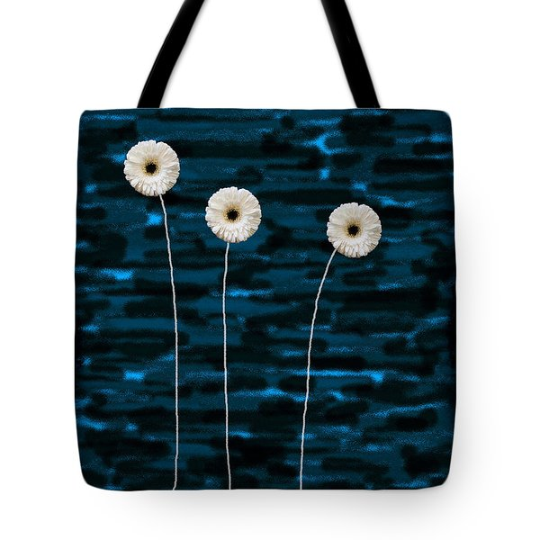 Three Whites On Camo Tote Bag